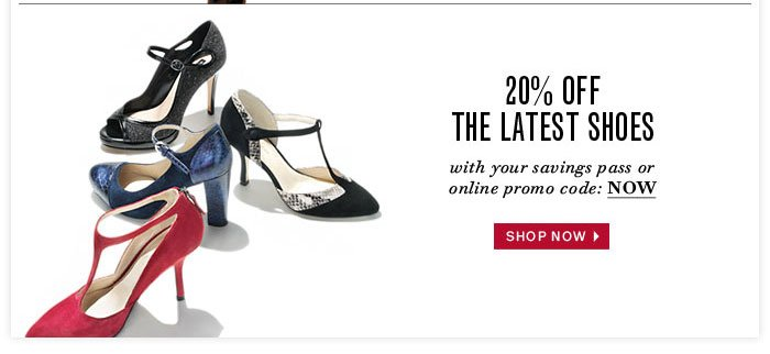 20% Off the Latest Shoes
