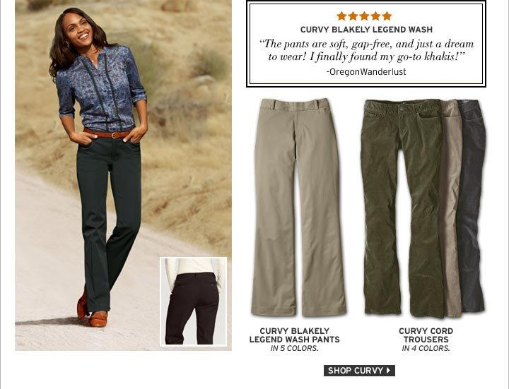 Shop Curvy Fit Pants