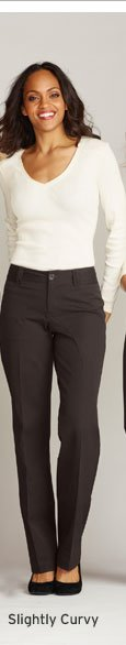 Shop Slightly Curvy Fit Pants
