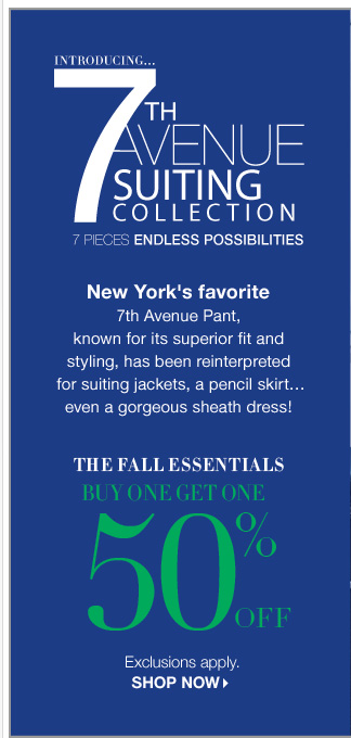 Buy One Get One 50% off Fall Essentials! Exclusions apply