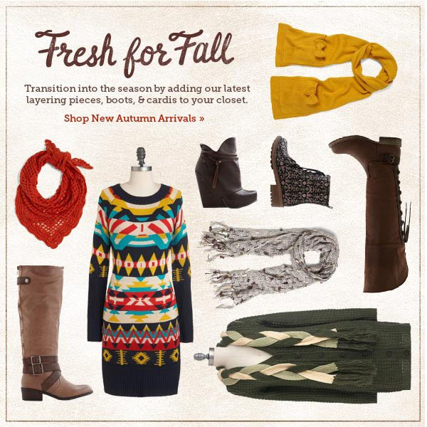 Fresh for Fall: Shop New Autumn Arrivals