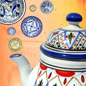 Hand-Painted Tunisian Tableware. \u003e  sc 1 st  Milled & Fab.com: Tunisian Tableware. Cool Clocks. Candy-Colored iPhone Cases ...