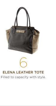 6. Elena leather tote Filled to capacity with style.