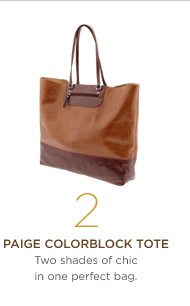 2. Paige Colorblock Tote Two shades of chic in one perfect bag.
