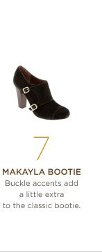 7. Makayla bootie Buckle accents add a little extra to the classic bootie.