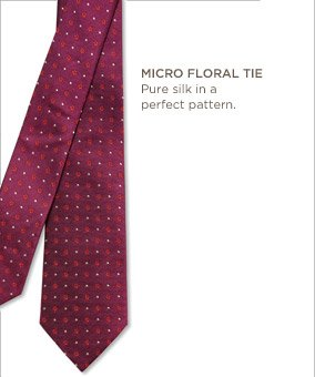 Micro floral tie | Pure silk in a perfect pattern.