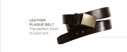 Leather plaque belt | The perfect finish to your suit.