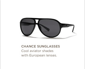Chance sunglasses | Cool aviator shades with European lenses.