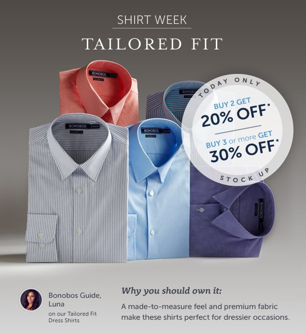 Shirt Week: Tailored Fit