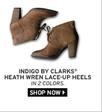 Indigo By Clarks® Heath Wren Lace-Up Heels