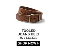 Tooled Jeans Belt