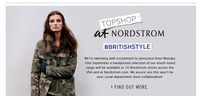 TOPSHOP AT NORDSTROM - Find Out More