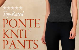 top rated ponte knit pants