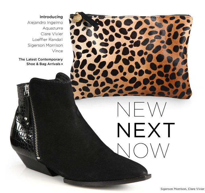 The Latest Contemporary Shoe & Bag Collections