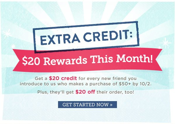 Extra! Extra! $20 Rewards This Month!