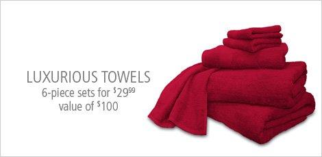 Luxurious Towel 6 piece sets