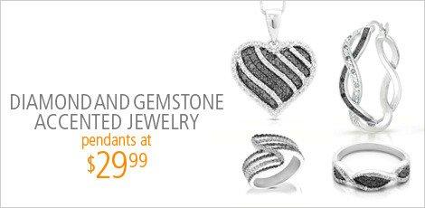 Diamond and Gemstone Accented Jewelry
