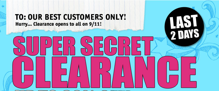SUPER SECRET CLEARANCE UP TO 