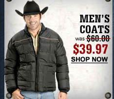 Men's Coats $39.97