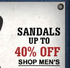 Men's Sandals 40% off