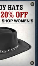 Cowgirl Hats upto 20% off