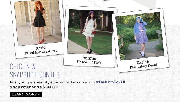 Chic in a Snapshot Contest