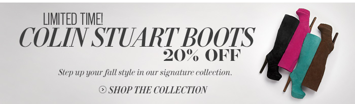 Limited Time! Colin Stuart Boots 20% Off
