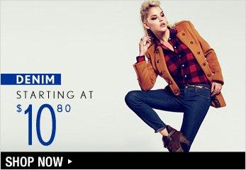 Denim Starting at $10.80 - Shop Now