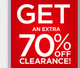 BUY ANY PERFECT PRICE ITEM, GET AN EXTRA 70% OFF CLEARANCE!