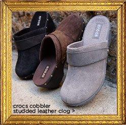 crocs cobbler studded leather clog