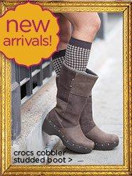new arrivals! crocs cobbler studded boot