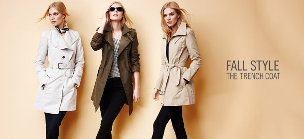 FALL STYLE: THE TRENCH COAT, Event Ends September 13, 9:00 AM PT >
