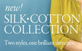 new silk cotton collection. two styles one brilliant direction