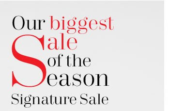 It's our biggest sale of the season!