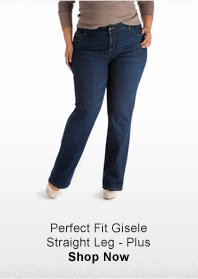PERFECT FIT GISELE  STRAIGHT LEG  PLUS >