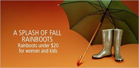 A Splash of Fall: Rainboots