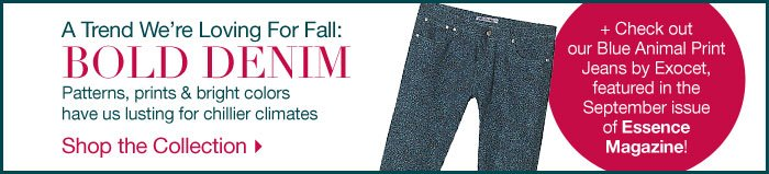 A trend we are loving for Fall: BOLD DENIM.