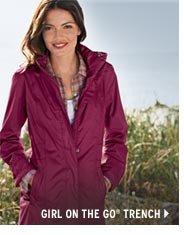 WeatherEdge® Girl on the Go® Trench Coat