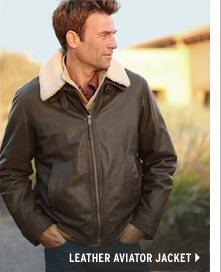 Leather Aviator Jacket