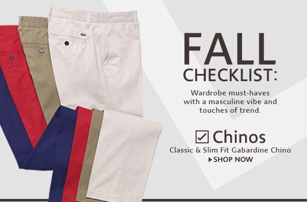 Chinos. Classic & Slim Fit Gabardine Chino
