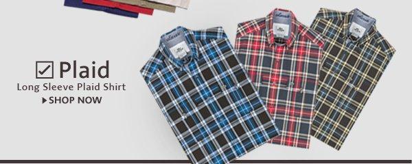 Plaid. Long Sleeve Plaid Shirt