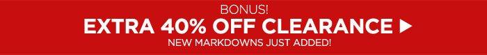 BONUS – EXTRA 40% OFF CLEARANCE!