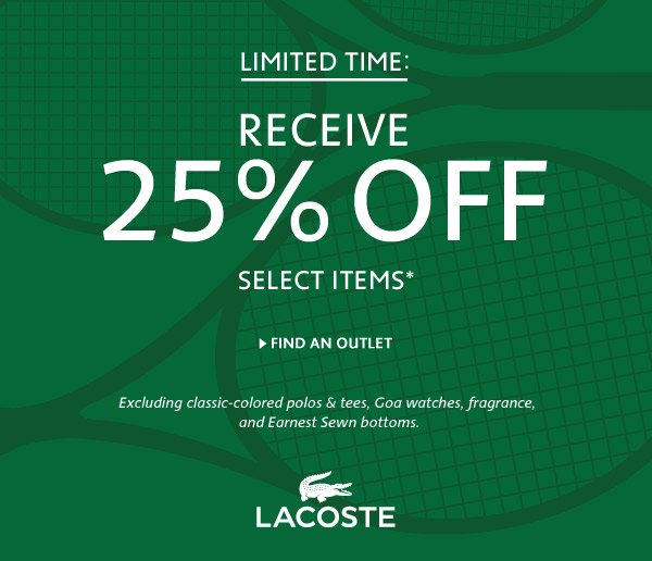 Receive 25% OFF