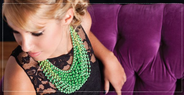 Combine bold accessories with fancy frocks for 