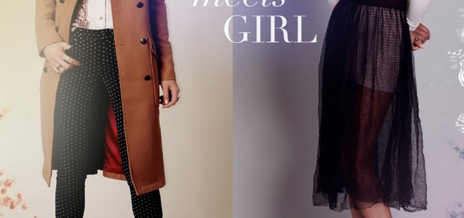 Boy Meets Girl! Take a cue from the boys in tailored trousers, classic coat shapes, and menswear-inspired accessories. Shop the trend... Take intimates dressing to the next level and go girly with layers of lace and tulle. Shop Intimately FP...