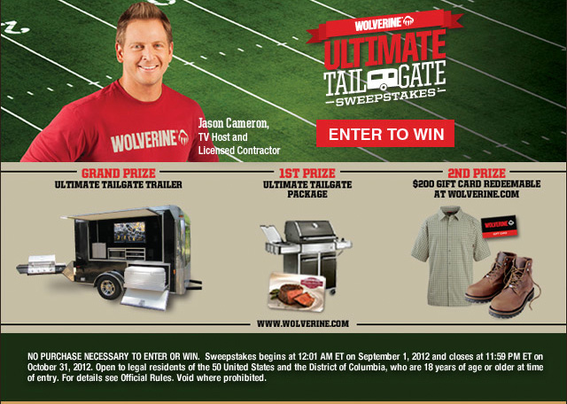 Wolverine Ultimate Tailgate Sweepstakes
