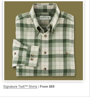 Signature Twill Shirts | From $89