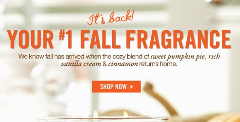 Your #1 Fall Fragrance!