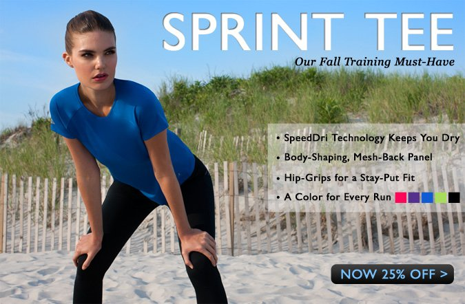 Shop the NEW Sprint Tee at 25% Off!