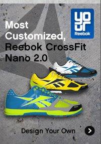 Most Customized, Reebok CrossFit Nano 2.0